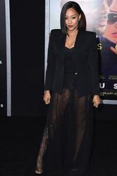 "Tia Mowry - Leggy In A Sheer Skirt Attending ""Focus"" Premiere (2/24/15)"