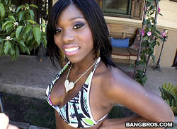 BrownBunnies - Ebony Star - Thick Black Chick With Pink Pussy Lips **November 27, 2011**